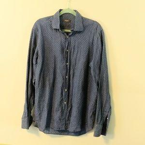 Saks Fifth Avenue 100% linen chambray shirt 2027